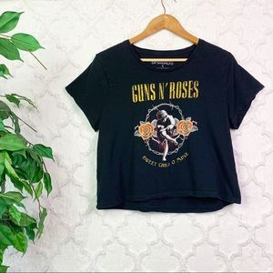 Guns N Roses Sweet Child Cropped Graphic Tee